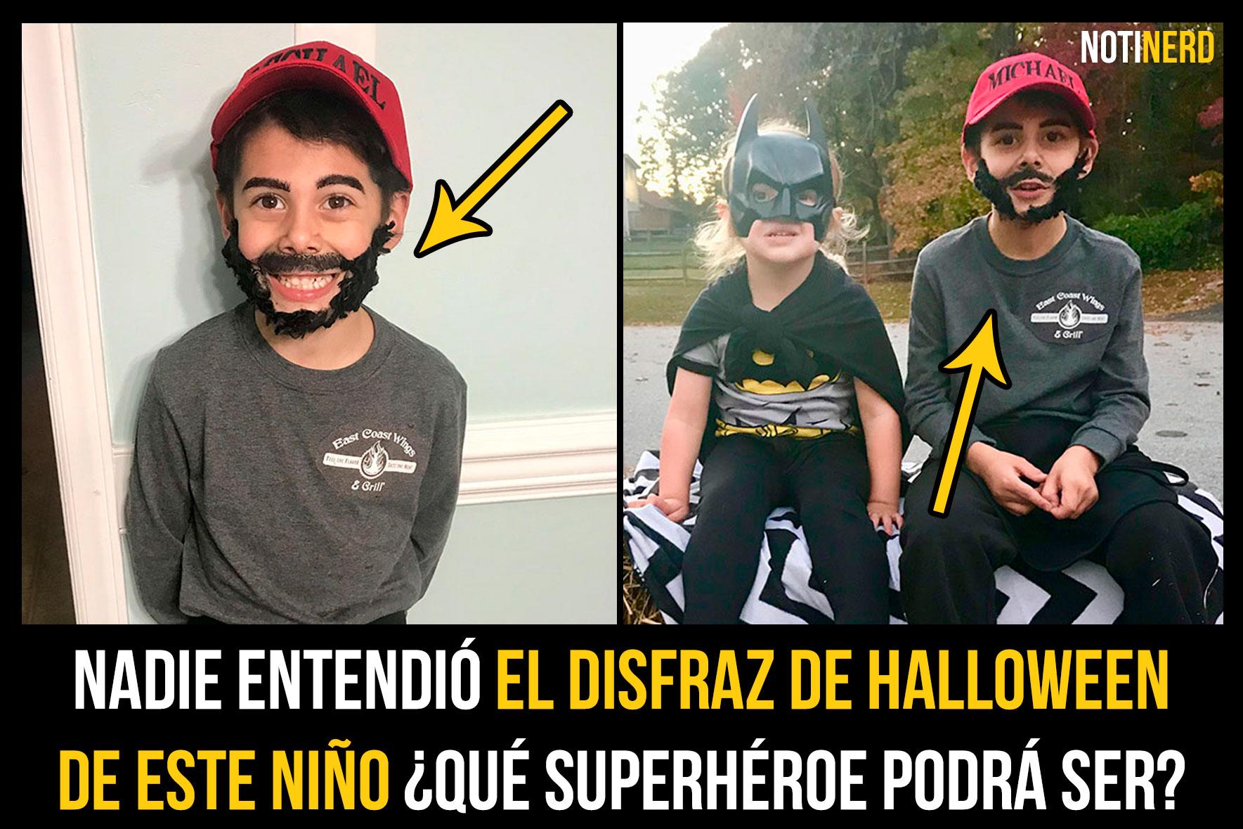 Nadie entendió el disfraz de Halloween de este niño ¿Qué superhéroe podrá ser?
